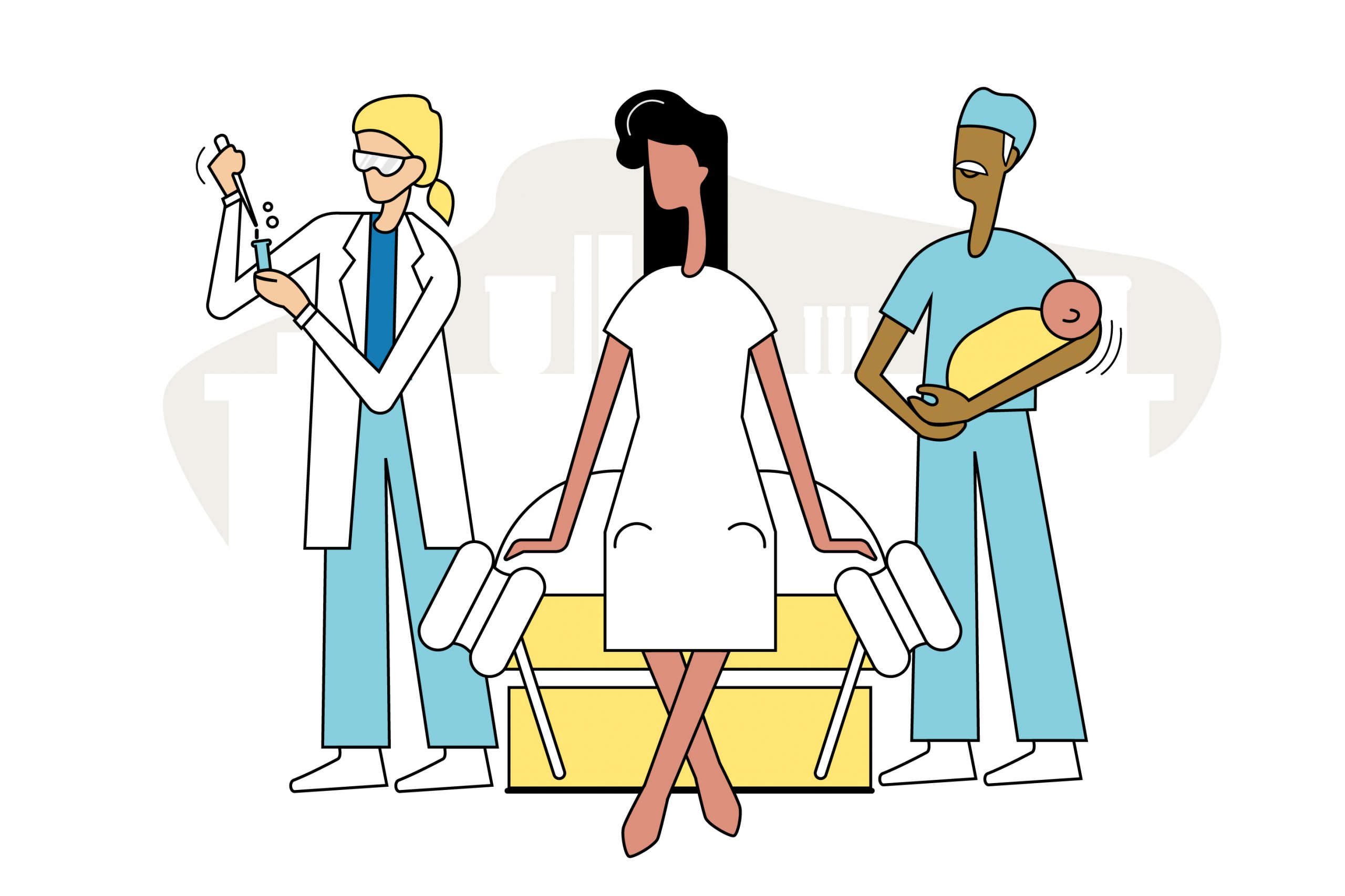 UME Gyno Obstetrician Illustration