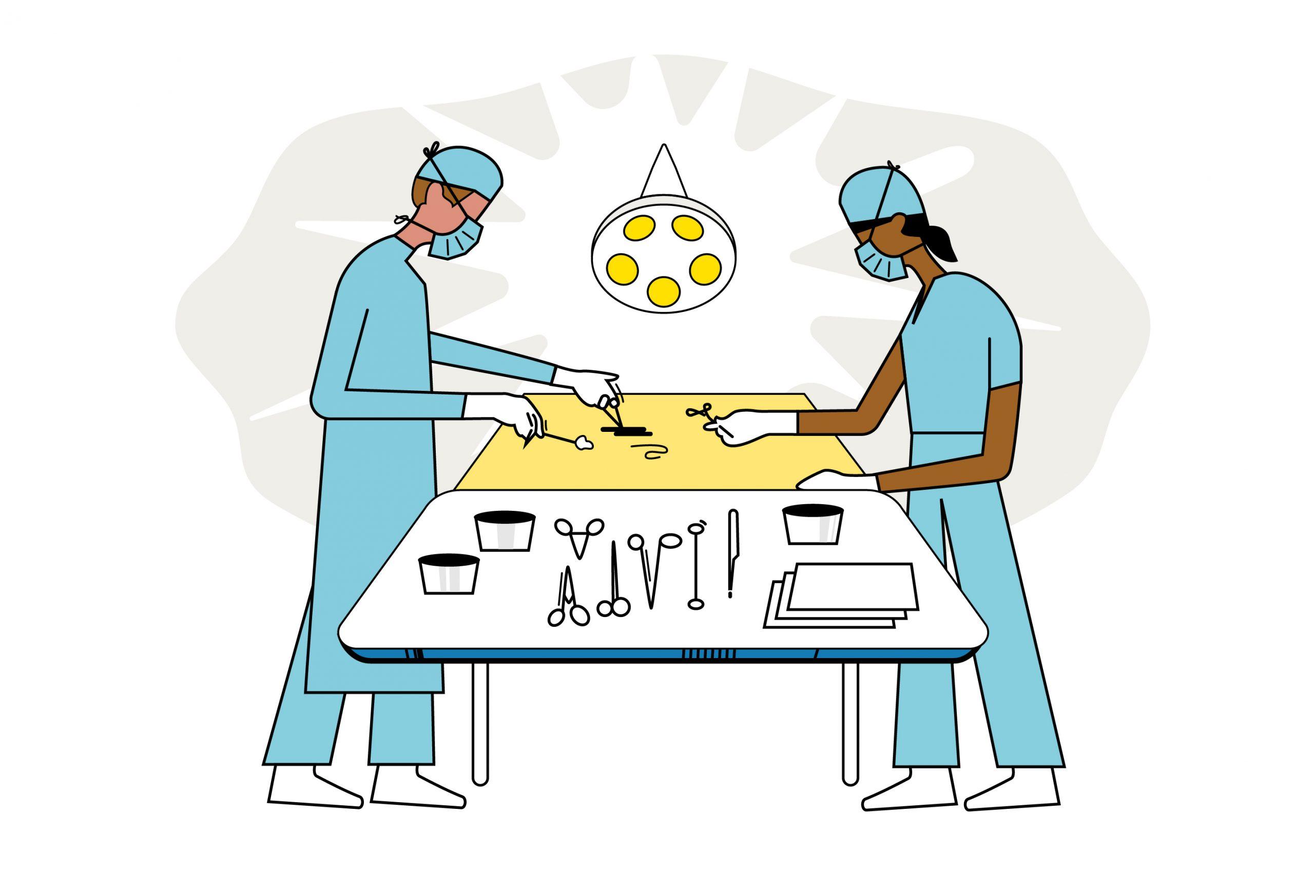 UME surgeons ER Illustration