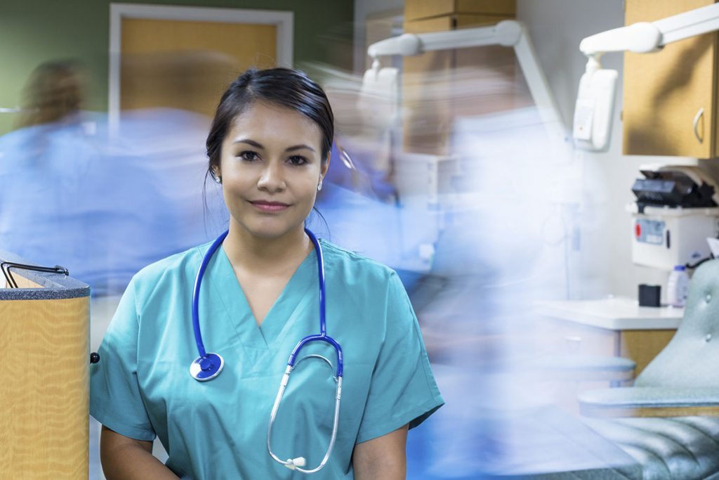 medical profession with blurred background