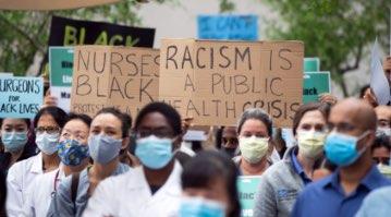 anti-racist protestors