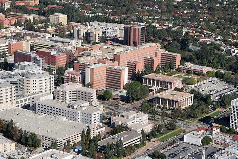 aerial photo of UCLA campus
